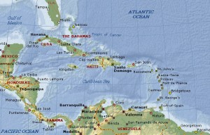 Caribbean Map (West Indies)